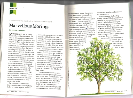 Readers Digest: Moringa
