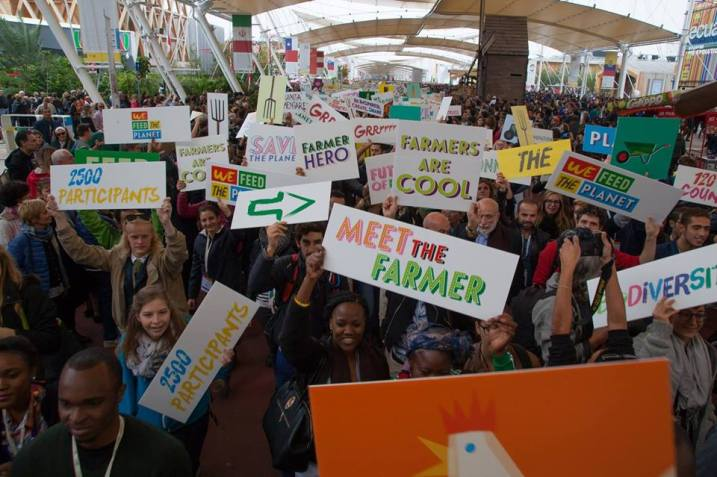 Terra Madre Giovani delegates at the Milan Expo 2015
