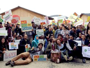Delegates and Participants of the Slow Food International Movement - Terra Madre Giovani - We Feed the Planet, at the Milan Expo 2015